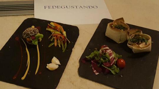 Presentación del menú de Fedegustando